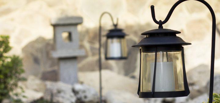 Lumière de jardin en extérieur